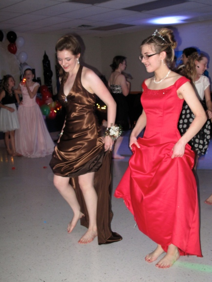 Gotta' ditch the shoes, no matter how pretty, when there's serious dancing to be done!