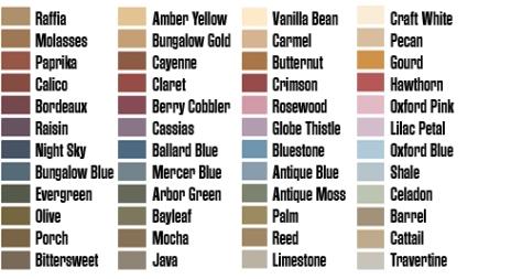 """Eddie Bauer """"Craftsman Bungalow"""" Palette (Valspar, available at Lowes)"""