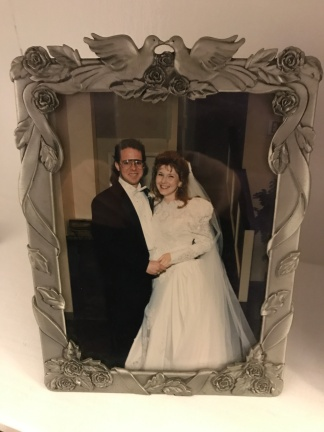 Right after our wedding recessional — February 22, 1992.