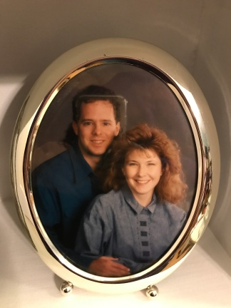 Our engagement portrait in late 1991.
